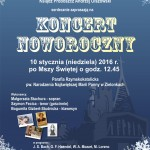 plakat koncert noworoiczny bgs 16