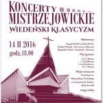 Koncerty Mistrzejowickie - 14.02, godz. 18:00